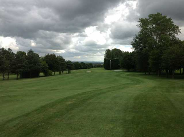 The approach to the 18th at Filton Golf Club