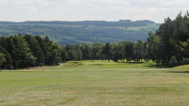 The scenic backdrop at the Crosland golf course