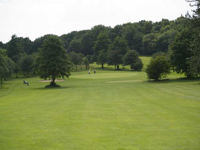 A view down a fairway at Cannock Park