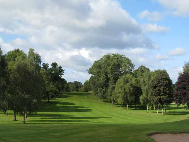 The approach to the 18th at Oswestry Golf Club