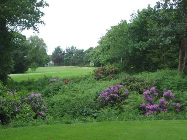 A view of a bunker guarded green at Davenport