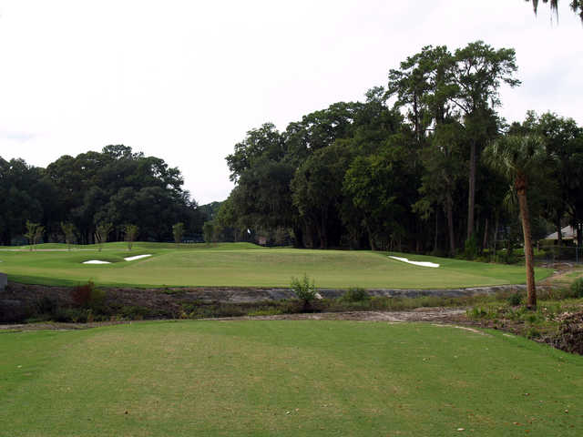 View of the 4th green at Bacon Park Golf Course