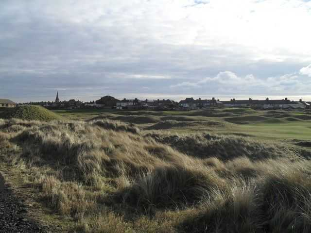The challenging terrain on the Cleveland Golf Course