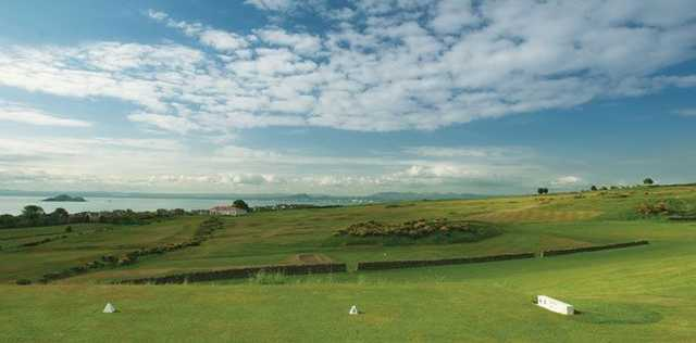 A view from the tee at the Kinghorn Golf Course