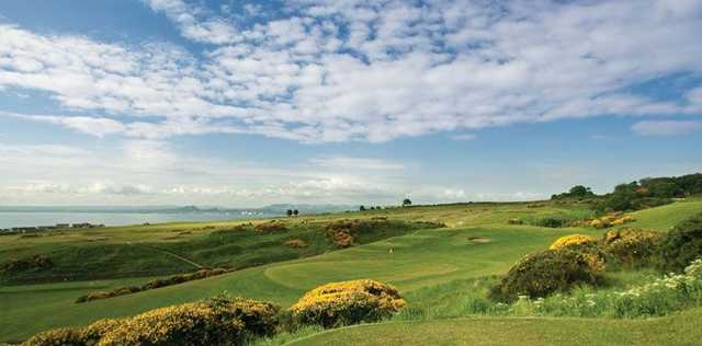 The stunning backdrop to the Kinghorn Golf Club