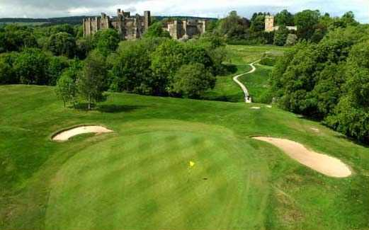 An overhead shot of the 10th hole on the Brancepeth golf course