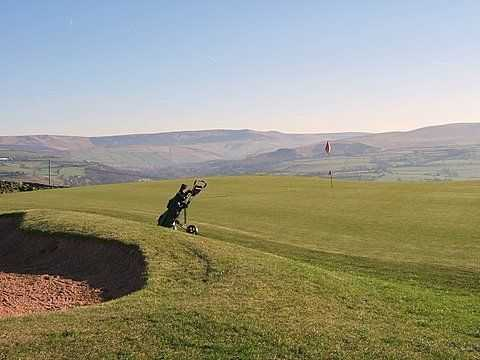 The spectacular backdrop as seen at the 4th hole on the New Mills Golf Course