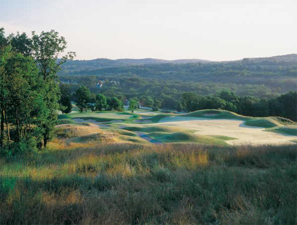 A view of green #8 at Centennial Golf Club - Meadows Course