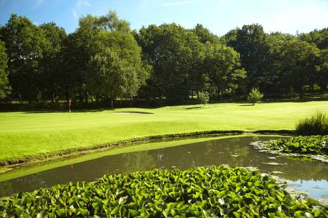 Avoid the water hazard on the 10th at Kedleston Park GC