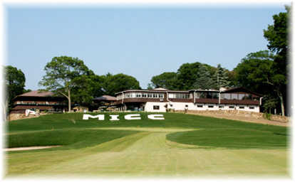 A view of the clubhouse at Middle Island Country Club