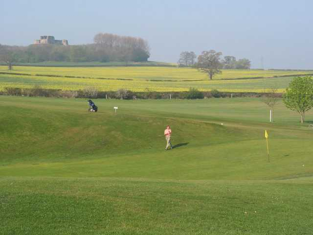 The open countryside surrounding hole 3 on the Stafford Castle Golf Course