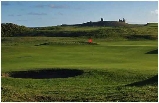 The undualting greens at the Dunstanburgh Castle Golf Club