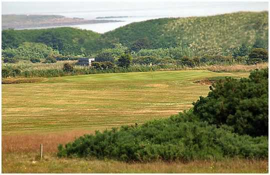 A sea view from the green at Dunstanburgh Golf Club