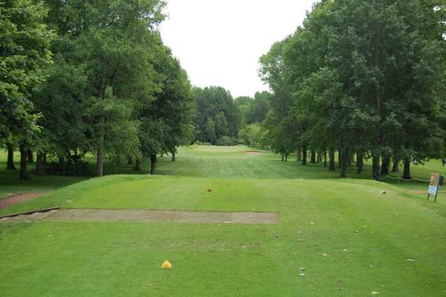 The tree lined 10th hole at Woolton Golf Club