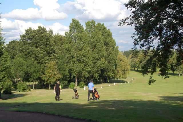 View of the challenging 14th fairway at Woolton Golf Club