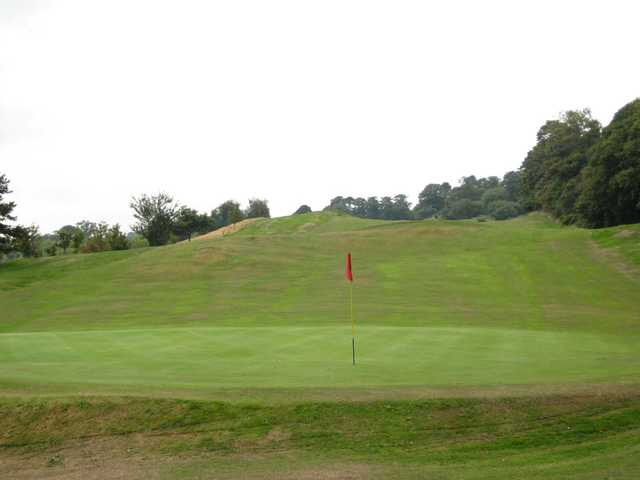 A view of the 18th green at St Deiniol Golf Course
