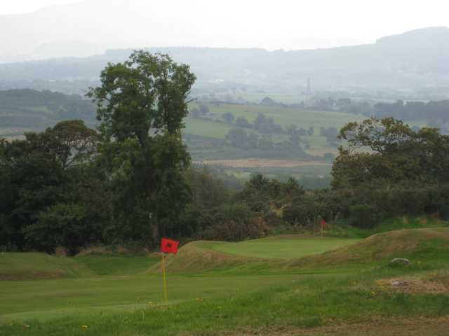 A view of the 17th green at St Deiniol Golf Course