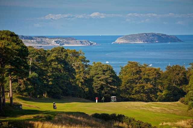 The scenic views on seen from the 16th at St Deiniol Golf Course