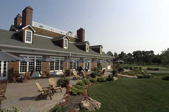 A view of the clubhouse at Great Rock Golf Club