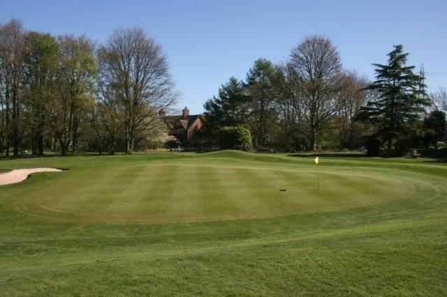Fantastic shot of the 10th green at Hazel Grove