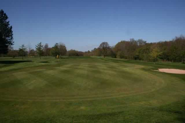 Looking back down the 13th at Hazel Grove