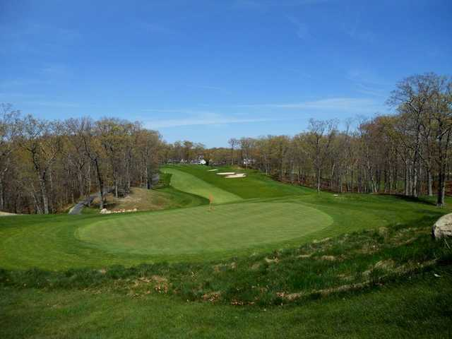 A view of the 8th green at Great Rock Golf Club