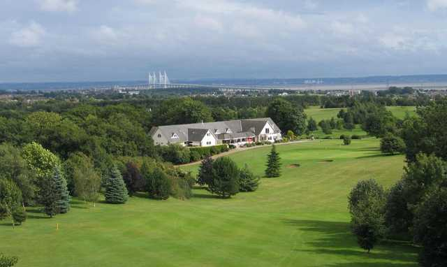 The clubhouse at Dewstow Golf Club