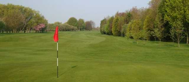 Looking down the fairway from the pin