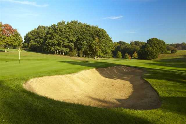 Greenside bunker at Burnham Beeches Golf Club