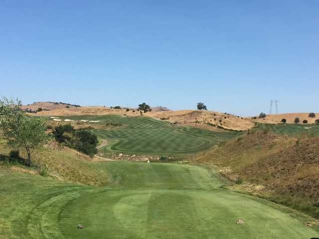 View from the 1st tee at the Lake Course at Cinnabar Hills Golf Club