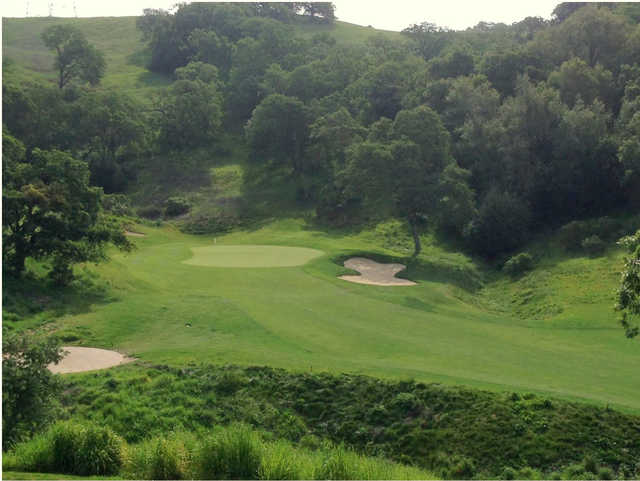 View of the 6th green from the Canyon course at Cinnabar Hills Golf Club