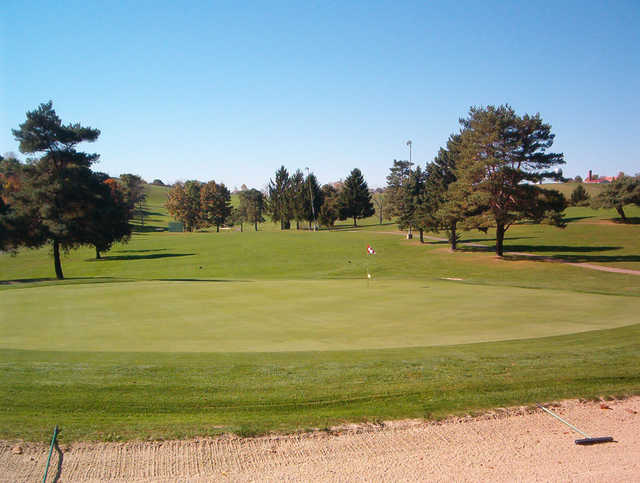 A view of a hole at Fort Cherry Golf Club