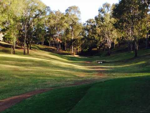 A view of the 14th fairway at Brisbane River Golf Course