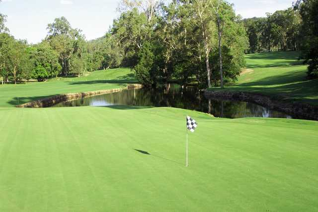 A view of hole #1 at North Course from Keperra Golf Club