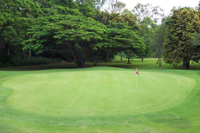 A view of a hole at Keperra Golf Club
