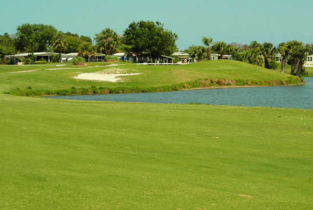 A view from fairway #10 at Barefoot Bay Golf & Recreation Park
