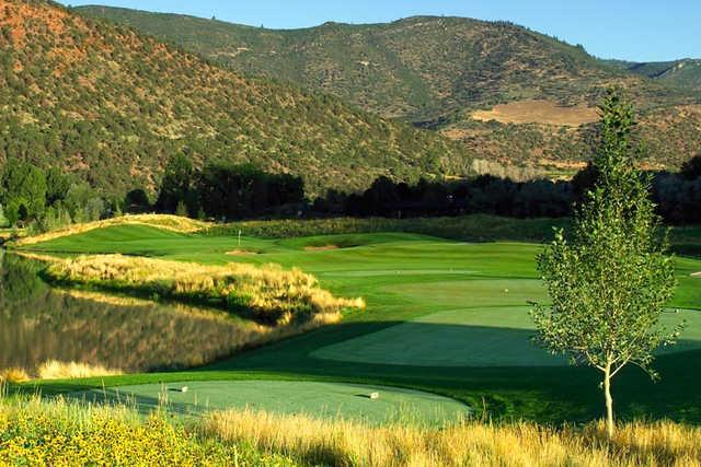 A view of tee #6 at Ironbridge Golf Club