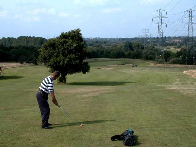 Golfer enjoying his round at Hilltop Golf Club