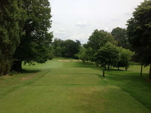 The 10th hole at Cocks Moors Woods Golf Club