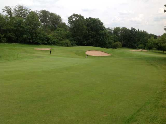 The approach to the 9th at  Cocks Moors Woods Golf Club