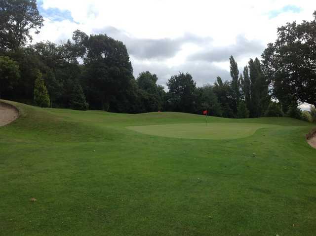 The approach to the 1st at Church Farm Golf Club