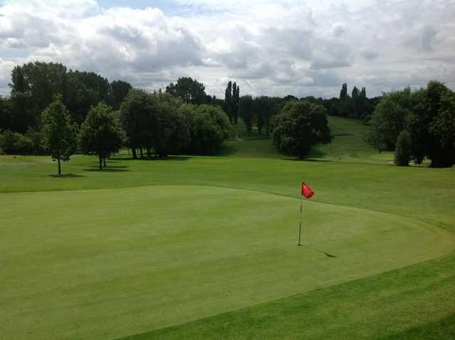 The 4th green at Harborne Church Farm Golf Club