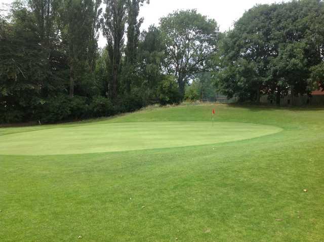 The 9th green at Harborne Church Farm Golf Club