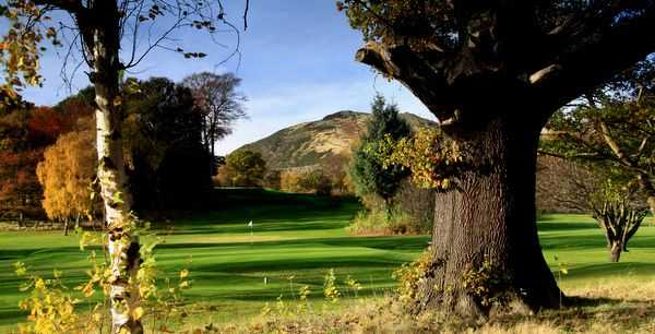 Looking over the 14th green at Duddingston Golf Club