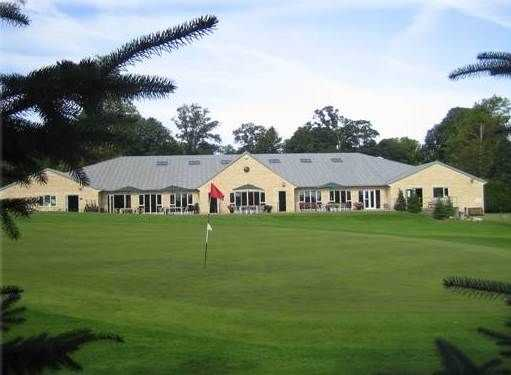 The clubhouse at Burghley Park Golf Club