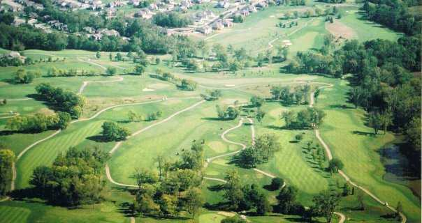Aerial view from Pipestone Golf Club