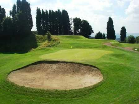 Greenside bunker at Dudley Golf Club