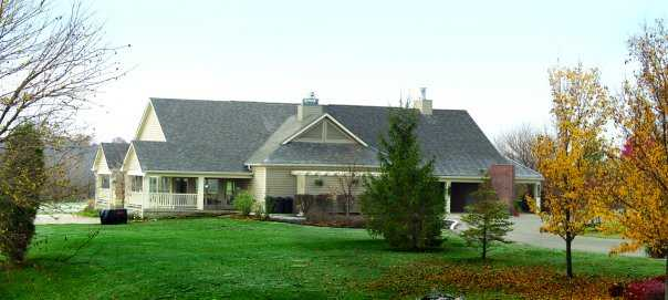 A view of the clubhouse at Pipestone Golf Club