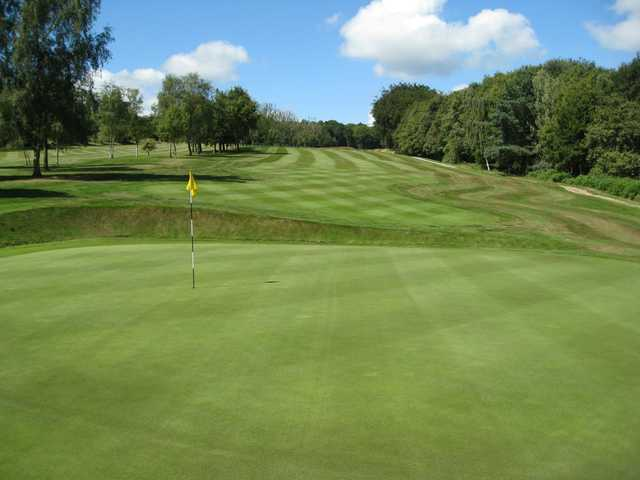 View of the stunning 18th hole at Hillsborough Golf Club
