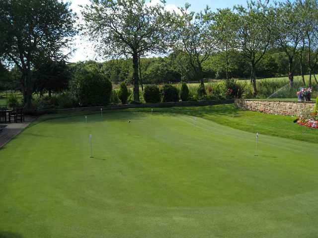 The attractive putting green at Hillsborough Golf Club
